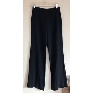 VALENTINO ROMA Wide Leg Viscose Stretch Front Pant